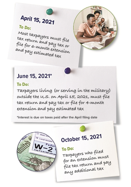 Due Dates for 2020 Tax Returns